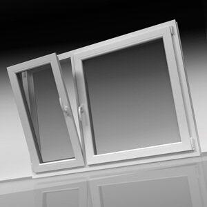Κούφωμα PVC δίφυλλο παράθυρο