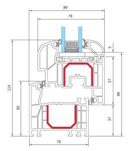 Γραμμικό κουφώματος PVC IDEAL 4000