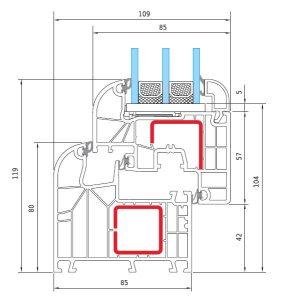 Γραμμικό κουφώματος PVC IDEAL 5000